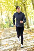 Woman Running Cheerful Outside