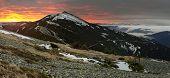 Dawn In Gorgany Mountains