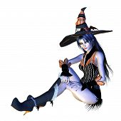 3D Halloween Witch