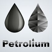 Vector illustration of two petroleum black drop