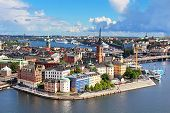 Panorama Of Stockholm Old City, Sweden