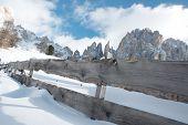 Dolomites in winter