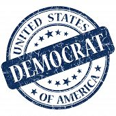 Democrat Blue Stamp