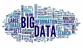 stock photo of text cloud  - Big data concept in word tag cloud on white background - JPG
