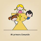foto of communion  - First communion card - JPG