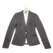 Grey Jersey Blazer Isolated