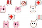 Постер, плакат: Свиной грипп пузырь