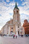 TORUN, POLAND - AUG 15: Church of Holy Spirit in old town of Torun on 15 of August 2013. Torun is on