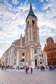 TORUN, POLAND - AUG 15: Church of Holy Spirit in old town of Torun on 15 of August 2013. Torun is on