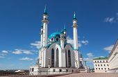 Qol Sharif mosque in Kazan Russia against the beautiful sky