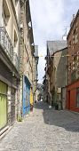 Street scene of Vitre in Brittany France