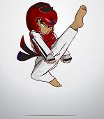 stock photo of taekwondo  - Create cartoon taekwondo martial art - JPG