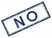 image of disapproval  - no blue square stamp on white background - JPG