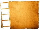 foto of stripping  - Great film strip for textures and backgrounds frame - JPG