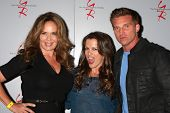 LOS ANGELES - AUG 24:  Catherine Bach, Melissa Claire Egan, Steve Burton at the Young & Restless Fan