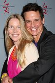 LOS ANGELES - AUG 24:  Lauralee Bell, Christian LeBlanc at the Young & Restless Fan Club Dinner at the Universal Sheraton Hotel on August 24, 2013 in Los Angeles, CA