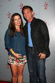 LOS ANGELES - AUG 24:  Melissa Claire Egan, Steve Burton at the Young & Restless Fan Club Dinner at