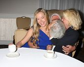LOS ANGELES - AUG 24:  Jennifer Gareis, John McCook, Alley Mills at the Bold n Beautiful QnA and Aut
