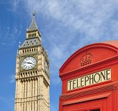 Telephone Box And Big Ben