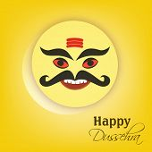 picture of ravana  - Indian festival Happy Dussehra concept with tag - JPG