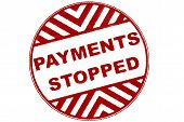 Larger Print Of Red Stamp Payments Stopped