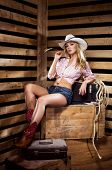 stock photo of cowgirl  - Young - JPG