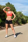 Young Athletic Woman Runner Jogger Outdoor