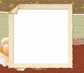 Square Tattered Frame on Patterned Background