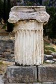 Single ionic order capital at Delphi in Greece