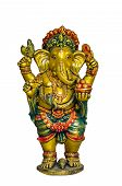picture of laddu  - Golden Hindu God Ganesh over a white background