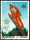 Vintage  Postage Stamp. Olympic Games In Calgary. 8.
