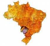 Mato Grosso Do Sul State On Map Of Brazil