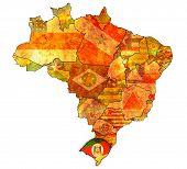 Rio Grande Do Sul On Map Of Brazil