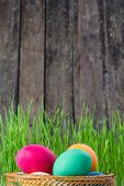 Easter Rustic Background
