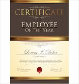 Certificate Template, Employee Of The Year