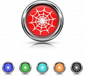 Spider Web Icon - Six Colors Vector Set