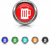 Beer Icon - Six Colors Vector Set