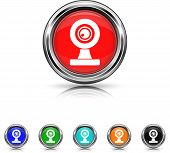 Webcam Icon - Six Colors Vector Set