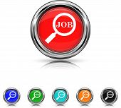 Search For Job Icon - Six Colors Vector Set