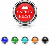 Safety First Icon - Six Colors Vector Set