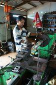 Mechanic Working  Mechanical Workshop