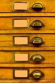 Old Wood Filing Cabinet