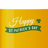 Saint patricks card, vector beer background