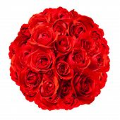 Roses Arranged In A Rounded Bouquet