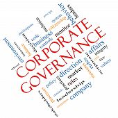 Corporate Governance Word Cloud Concept Angled