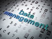 Information concept:  Data Management on Hexadecimal Code background