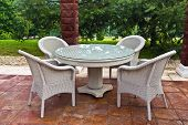 Garden furniture table and chairs.