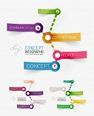 Vector connection theme word infographic of color transparent connected stickers with keywords