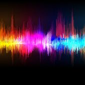 Vector music equalizer wave background.