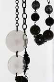 Glass Jewellery Circles And Pendants On Silver Necklace